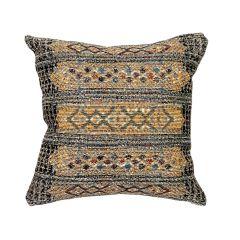 Liora Manne Marina Tribal Stripe Indoor/ Outdoor Pillow Black