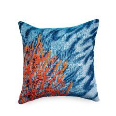 Liora Manne Marina Coral Indoor/Outdoor Pillow Ocean