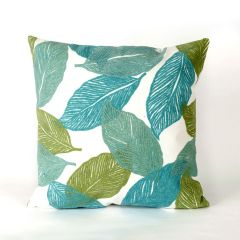 Liora Manne Visions I Mystic Leaf Indoor/Outdoor Pillow Aqua