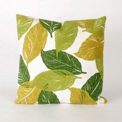 Liora Manne Visions I Mystic Leaf Indoor/Outdoor Pillow Green