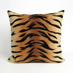 Liora Manne Visions I Tiger Indoor/Outdoor Pillow Brown