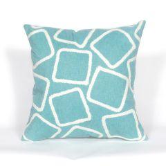Liora Manne Visions I Squares Indoor/Outdoor Pillow Aqua