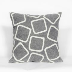 Liora Manne Visions I Squares Indoor/Outdoor Pillow Silver