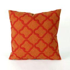 Liora Manne Visions I Crochet Tile Indoor/Outdoor Pillow Orange