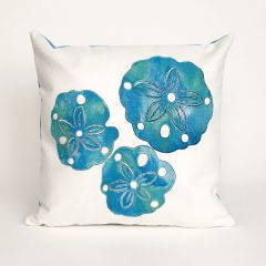 Liora Manne Visions I Sand Dollar Indoor/Outdoor Pillow Pearl