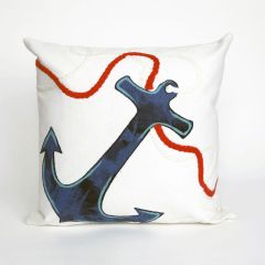 Liora Manne Visions I Anchor Indoor/Outdoor Pillow White