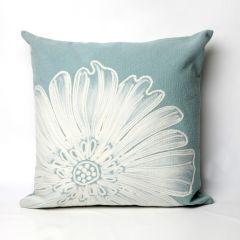 Liora Manne Visions II Antique Medallion Indoor/Outdoor Pillow Aqua