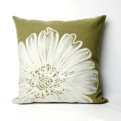 Liora Manne Visions II Antique Medallion Indoor/Outdoor Pillow Green