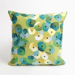 Liora Manne Visions II Pansy Indoor/ Outdoor Pillow Lime