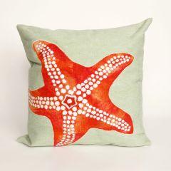 Liora Manne Visions II Starfish Indoor/ Outdoor Pillow Seafoam