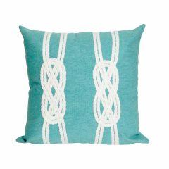 Liora Manne Visions II Double Knot Indoor/ Outdoor Pillow Aqua
