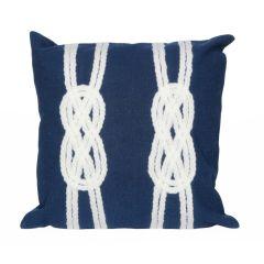 Liora Manne Visions II Double Knot Indoor/ Outdoor Pillow Navy