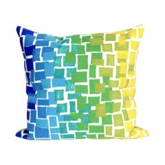 Liora Manne Visions II Ombre Tile Indoor/ Outdoor Pillow Cool