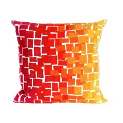 Liora Manne Visions II Ombre Tile Indoor/ Outdoor Pillow Warm