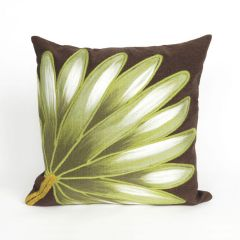 Liora Manne Visions II Palm Fan Indoor/ Outdoor Pillow Chocolate