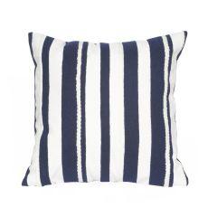 Liora Manne Visions II Marina Stripe Indoor/ Outdoor Pillow Marine