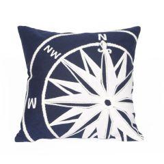 Liora Manne Visions II Compass Indoor/ Outdoor Pillow Marine