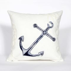 Liora Manne Visions II Marina Indoor/ Outdoor Pillow White