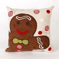 Liora Manne Visions II Ginger Boy Indoor/ Outdoor Pillow Chocolate