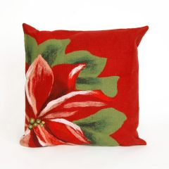 Liora Manne Visions II Poinsettia Indoor/ Outdoor Pillow Red