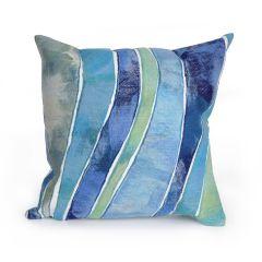 Liora Manne Visions III Waves Indoor/ Outdoor Pillow Ocean