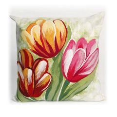 Liora Manne Visions III Tulips Indoor/ Outdoor Pillow Warm