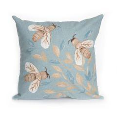 Liora Manne Visions III Bees Indoor/ Outdoor Pillow Aqua