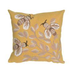 Liora Manne Visions III Bees Indoor/ Outdoor Pillow Honey