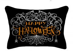 Happy Halloween Web Lumbar Throw Pillow