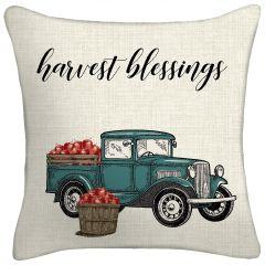 Harvest Truck Throw Pillow