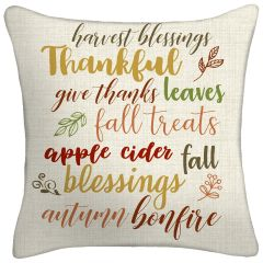 Thankful Throw Pillow