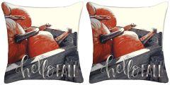 Set of Two -  Hello Fall Throw Pillows