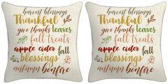 Set of Two - Thankful Throw Pillows