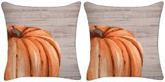 Set of Two - Harvest Pumpkin Throw Pillow