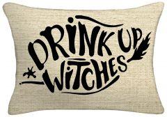Drink Up Witches Lumbar Throw Pillow