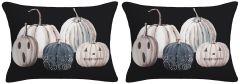 Set of Two -Pumpkin Lumbar Throw Pillow
