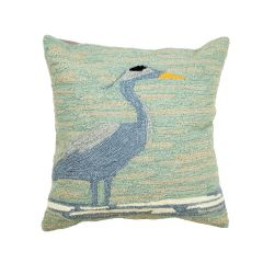 Liora Manne Frontporch Blue Heron Indoor/Outdoor Pillow Lake