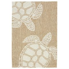 Liora Manne Capri Turtle Indoor/Outdoor Rug Neutral