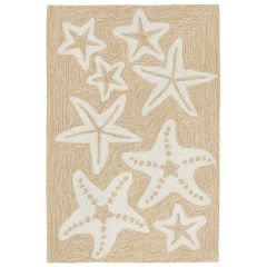 Liora Manne Capri Starfish Indoor/Outdoor Rug Neutral