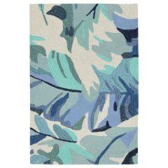 Liora Manne Capri Palm Leaf Indoor/Outdoor Rug Blue