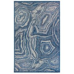 Liora Manne Carmel Agate Indoor/ Outdoor Rug Navy