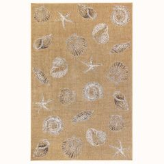 Liora Manne Carmel Shells Indoor/ Outdoor Rug Sand