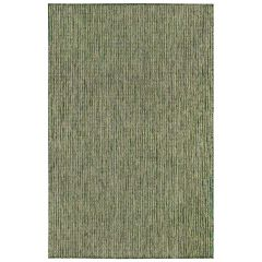 Liora Manne Carmel Texture Stripe Indoor/ Outdoor Rug Green