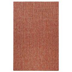 Liora Manne Carmel Texture Stripe Indoor/ Outdoor Rug Red