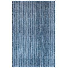 Liora Manne Carmel Texture Stripe Indoor/ Outdoor Rug Navy