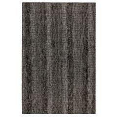 Liora Manne Carmel Texture Stripe Indoor/ Outdoor Rug Black