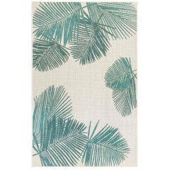 Liora Manne Carmel Palm Indoor/ Outdoor Rug Aqua