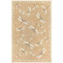 Liora Manne Carmel Dragonfly Indoor/ Outdoor Rug Sand
