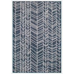 Liora Manne Carmel Chevron Indoor/ Outdoor Rug Navy