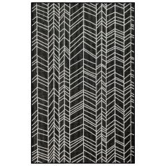 Liora Manne Carmel Chevron Indoor/ Outdoor Rug Black